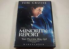 Minority Report Dvd 2-Disc Set Tom Cruise, Colin Farrell, Samantha Morton