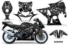 AMR Racing Graphic Kit Wrap Part Suzuki GSXR 1000 Street Bike 01-02 REAPER BLACK