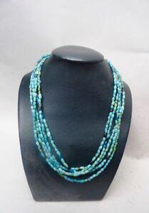 Halsband Lange Hals -paste Glas Farbig Türkis Nigeria