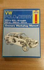 VW POLO & DERBY 1976-1979 HAYNES WORKSHOP MANUAL 335 VGC FOR ITS AGE FREE P&P