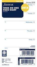 Filofax Personali dimensioni 2018 settimana su una pagina DIARIO INSERTO ricarica 18-68426