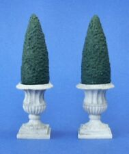 Miniature Dollhouse Set of 2 Triangle Topiary 1:12 Scale New A1437