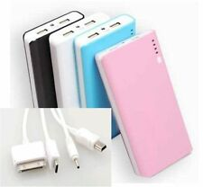 2 USB POWER BANK carica BATTERIA ESTERNA 30000mAh LED PER SMARTPHONE  PORTATILE