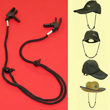 2PCS HAT RETAINER WINDPROOF ADJUSTABLE CLIP LANYARD FOR FISHING OUTDOOR ACTIVE