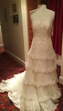 Crystal/Diamante Lace A-line Strapless Wedding Dresses