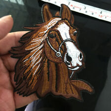Horse Head Badge Western Equestrian Iron on Applique Embroidered Patch Sewing