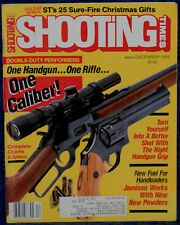 Magazine SHOOTING TIMES, December 1986 !WEATHERBY Mark XXII Deluxe .22 LR RIFLE!