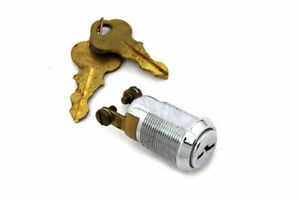 Chrome Mini Miniature On/Off Switch Lock Chicago Keys Harley Chopper Rigid NOS