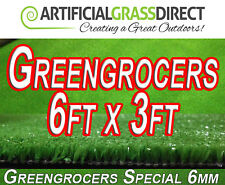 **Artificial Grass Mat - Greengrocers Display Mats - 6ft x 3ft - Free Delivery**