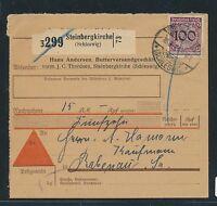86567) DR Weimar NN - Paketkarte 1931 ab Steinbergkirche, EF 100PF