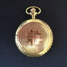 POCKET WATCH NO.35 GOLD COLOURED  HUNTER, 4 HEARTS DESIGN COLLECTABLE
