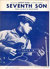 """JOHNNY RIVERS-SEVENTH SON"" PIANO/VOCAL/GUITAR SHEET MUSIC-1965-RARE-BRAND NEW!!"