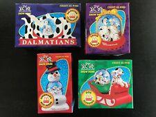 1996 Disney 101 Dalmatians Snow Globes Domes McDonalds Set of 4 NIB Dalmations