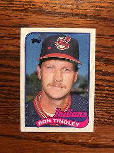 1989 Topps #721 Ron Tingley Baseball Card Cleveland Indians Raw