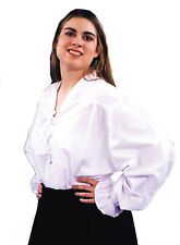 Renaissance Billowy Sleeves White Adult Shirt & Tie Up Front One Size