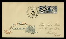 DR WHO 1928 CLEVELAND OH FIRST FLIGHT AIR MAIL CAM 20 C196128