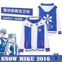 Anime VOCALOID Hoodie Snow Hatsune Miku Hooded Sweaters Coat Unisex Cosplay Wear