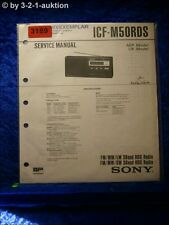 Sony Service Manual ICF M50RDS 3 Band RDS Radio (#3189)