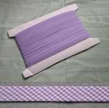 Gingham Bias Binding Lilac - 25mm wide x 5mts