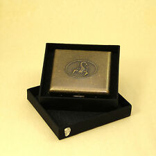 Scorpion Style Brass Cigarette Case Box Hold For 20 Cigarettes With Gift Box