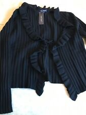 Bnwt Lona Scott 100% Cashmere XL Black Wrap Cardigan