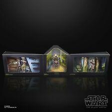 "Star Wars The Black Series Heroes of Endor 6"" Figure set Luke Han Solo Leia Ewok"