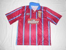 Rare ASTON VILLA 1993 1995 Home Vintage Asics  Football shirt jersey Size XL