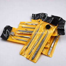 10 Set Dental Oral Care Basic Instrument Kit Stainless Steel Tools Mirror Probe