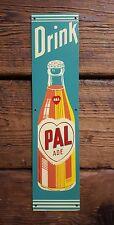 NOS Drink Pal Ade Orange Soda Tin Sign Screen Door Palm Push Bottle Cola Crush