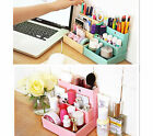 Desktop Paper Board Storage Box Desk Decor Stationery Makeup Cosmetic Organizer