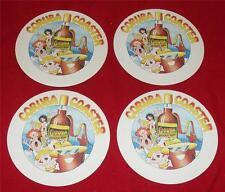 4 x CORUBA JAMAICA RUM DRINK COASTERS NEW / OLD STOCK UNUSED BEER MATS
