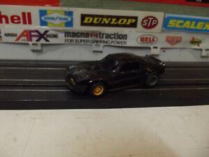 TYCO BLACK PONTIAC FIREBIRD TRANS-AM With HP-7 CHASSIS HO SLOT CAR
