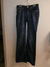 Girls Juniors YMI Jeans USA Size 0 SLIGHTLY DISTRESSED FLARE