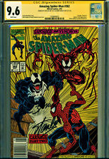 AMAZING SPIDER-MAN #362 CGC 9.6 2X SIGNED BY STAN LEE & M BAGLEY! ALL NEWSSTAND!