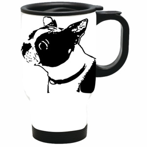 Boston Terrier Travel Mug Stainless steel insulated drink on the go