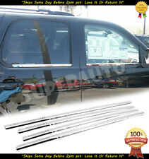 For 2007-2014 Chevy Avalanche/Suburban 4Pc Chrome Window Sill Trim Moldings