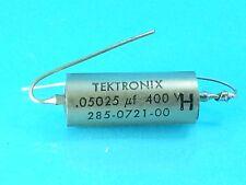 TEKTRONIX .05 UF 400 V VOLT PTM CAPACITOR BEST AUDIO TONE CAP EVER GUITAR AMP
