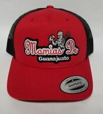 MOMIAS DE GUANAJUATO HAT RED  BLACK MESH TRUCKER   SNAP BACK ADJUSTABLE  NEW.