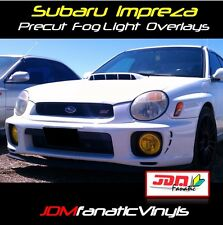 02 03 Impreza WRX STI Fog light Rally JDM Yellow Overlays Tint Vinyl Film Precut