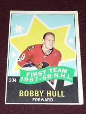 68-69 O-Pee-Chee #204 BOBBY HULL First Team 1967-68 ALLSTAR