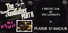 DISCO 45 GIRI   THE LOVELETS ‎– THEME OF THE GODFATHER PART 2 // PLAISIR D'AMOUR