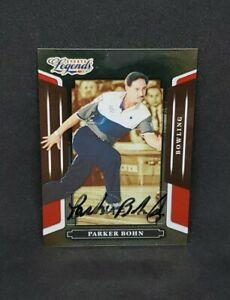 2008 Red Parker Bohn Autograph /1369 Sports Legends PBA Bowling Card #37