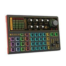Voice Changer Sound Card with Multiple Sound Effects,Sound Mixer Board, K300