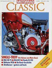Motorrad Classic 5/93 1993 BSA M 21 Honda XL 250 Falcone Sport NSU 501 TS Rumi