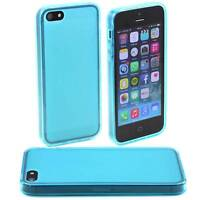 BLUE APPLE iPHONE 5 / 5G SOFT GEL SILICONE RUBBER CASE: FROSTED BACK TPU M27