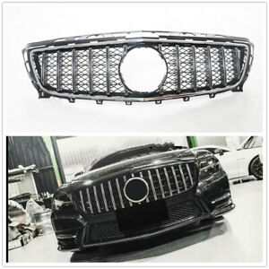 For Mercedes Benz CLS Class W218 GT R Grill 2011-2014 Front Grille Silver 1 Set