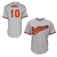 c0641243c Adam Jones Baltimore Orioles Majestic Official Cool Base Road Gray ...