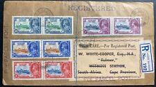 1935 South Georgia Falkland Island Registered Cover To Witmoss South Africa