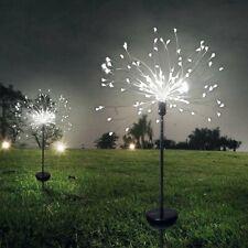2pack 120led Solar Power Starburst Fairy String Fireworks Light Christmas Decor