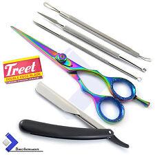 Barber Hair Shaving Razor Straight Edge Folding Knife Hair Styling Dressing Kit